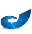 Logo blue rise vector image