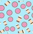 pie amp coffee pattern seamless flat food vector image