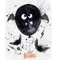 Poster halloween balloon vector image