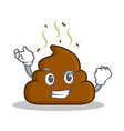successful poop emoticon character cartoon vector image