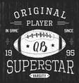 t-shirt design football quarterback superstar vector image