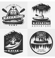 Kayaking Adventure Emblems Composition vector image