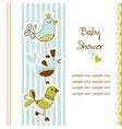 Birds baby shower vector image vector image