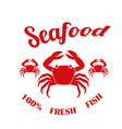 Seafood design vector image