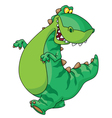 walking dinosaur vector image vector image