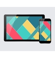 Tablet smartphone set vector image