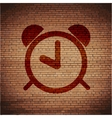 alarm clock Flat modern web button and space for vector image