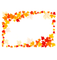 autumn frame with colorful leaves vector image