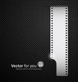 Camera film roll silver background vector image