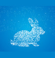Easter decoration egg silhouette with rabbit vector image