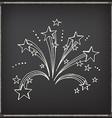 Firework icon sketch design vector image