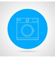 Flat icon for washing machine vector image