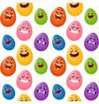 funny cartoon easter eggs vector image