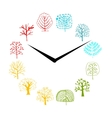 Seasons concept trees on watches sketch for your vector image