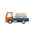 small cargo truck isolated vector image