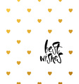 best wishes template vector image vector image