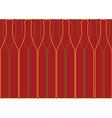 Wine List Design red vector image