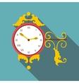 Street clock icon flat style vector image