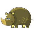 Rhino Cartoon african wild animal character vector image vector image