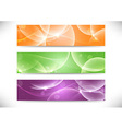 Web transparent headers collection vector image vector image