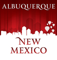 Albuquerque New Mexico city skyline silhouette vector image vector image