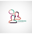 coworking company logo business concept vector image