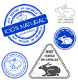 not tested on animals stamp vector image