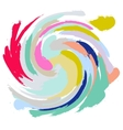 Acrylic paint brush stroke imitation vector image