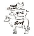 Farm animal husbandry cattle breeding livestock vector image