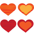 Heart Valentines day card vector image