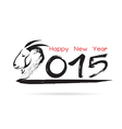 Calligraphy 2015 New Year sign vector image