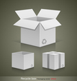 Collection recyele white box vector image