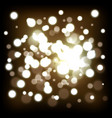 decoration with golden lights vector image