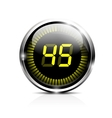 Electronic timer 45 seconds vector image