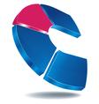 logo c blue vector image