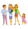 nanny with kid and family vector image