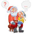 Santa girl2 vector image