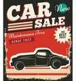Vintage Retro Car vector image