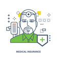 concept of medical insurance and healthcare vector image