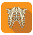 ribs flat icon orange vector image vector image