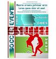 sport event poster soccer vector image