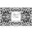 graphic floral frame vector image vector image