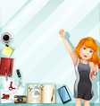 Businesswoman and other accessories vector image