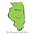 State of Illinois vector image