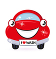 cute red car wash vector image