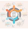 6 Step arrow circle infographics template vector image