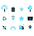Eco design elements isolated on white vector image vector image