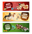 dog breeds banner set vector image