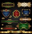 gold-framed decorative design elements vector image