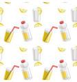 lemon and lemonade seamless pattern vector image